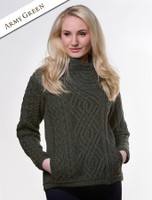 Aran Jacket with Celtic Knot Side Zip