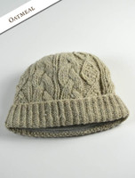Aran Fleece Lined Rib Cap - Oatmeal