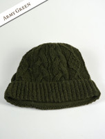 Aran Fleece Lined Rib Cap - Army