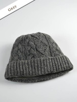 Aran Fleece Lined Rib Cap - Grey