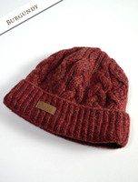Aran Fleece Lined Rib Cap - Burgundy