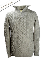 Heavyweight Merino Wool Aran Troyer - Silver