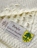 Boyle Clan Aran Throw