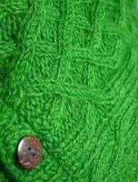 Handknit Fleece Lined Neckwarmer - Detail