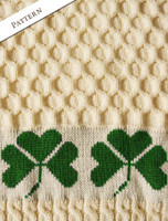 Pattern Detail of Merino Shamrock Throw