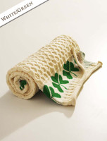Merino Shamrock Throw - White/Green