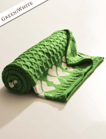 Merino Shamrock Throw - Green/White