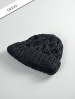 Merino Wool Cable Knit Hat - Derby
