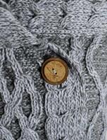 Single Button Aran Trellis Cardigan - Button