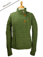 Super Soft Trellis and Cable Cardigan - Meadow