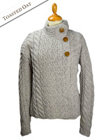 Super Soft Trellis and Cable Cardigan - Toasted Oat