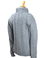 Super Soft Trellis and Cable Cardigan - Back