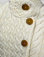 Super Soft Trellis and Cable Cardigan - Detail