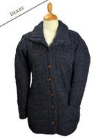 Button-Down Patchwork Cardigan - Derby