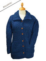 Button-Down Patchwork Cardigan - Atlantic