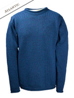 Merino Roll Neck Sweater - Atlantic