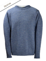 Merino Roll Neck Sweater - Denim