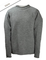 Merino Roll Neck Sweater - Grey
