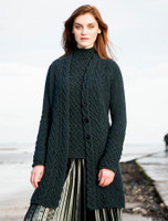 Wool Cashmere Aran Cable Coat