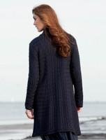 Trellis Aran Coat - Navy