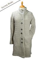 Trellis Aran Coat - Silver Marl