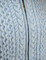 Wool Cashmere Honeycomb Aran Hoodie - Detail