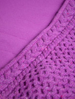Wool Cashmere Honeycomb Aran Hoodie - Lining