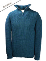 Ribbed Merino Troyer - Atlantic