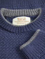 Merino Textured Crew Neck Sweater