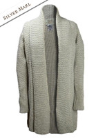Textured Merino Coatigan - Silver Marl
