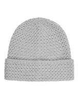 Textured Merino Hat - Silver