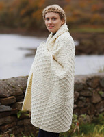 Wool Honeycomb Aran Throw