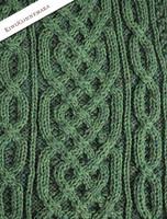 Aran Plaited Scarf - Kiwi/Connemara