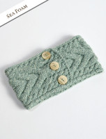 Super Soft Cable Stitch Headband - Seafoam Green