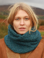 Super Soft Aran Infinity Scarf - Irish Sea
