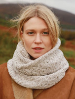 Super Soft Aran Infinity Scarf - Toasted Oat