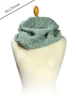 Super Soft Aran Infinity Scarf - Sea Foam