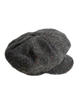 Donegal Tweed Mens Gatsby Cap - Charcoal