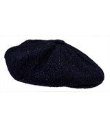 Donegal Tweed Mens Gatsby Cap - Navy