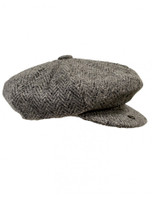 Donegal Tweed Mens Gatsby Cap - Silver