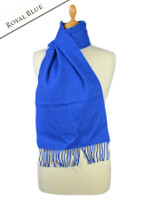 Fine Merino Scarf - Royal Blue