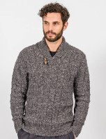 Box Stitch Shawl Neck Sweater