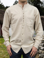 Grandfather Shirt - Plain Stone