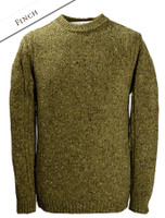 Crew Neck Sweater with Ribbed Sides - Finch