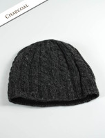 Aran Fleece Lined Beanie - Charcoal