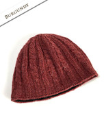 Aran Fleece Lined Beanie - Burgundy