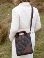 Tartan & Leather Tote Bag