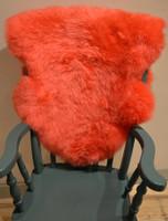 Deep Pile Sheepskin Rug - Orange