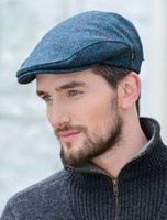 Trinity Tweed Flat Cap - Turquoise Plaid
