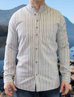 Heavyweight Grandfather Shirt - Grey Stripe